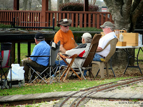 Photo: The Gauge 1 crew having good discussions     HALS Chili Fest Meet 2014-0301 RPW