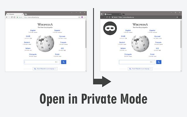 Open in Private Mode