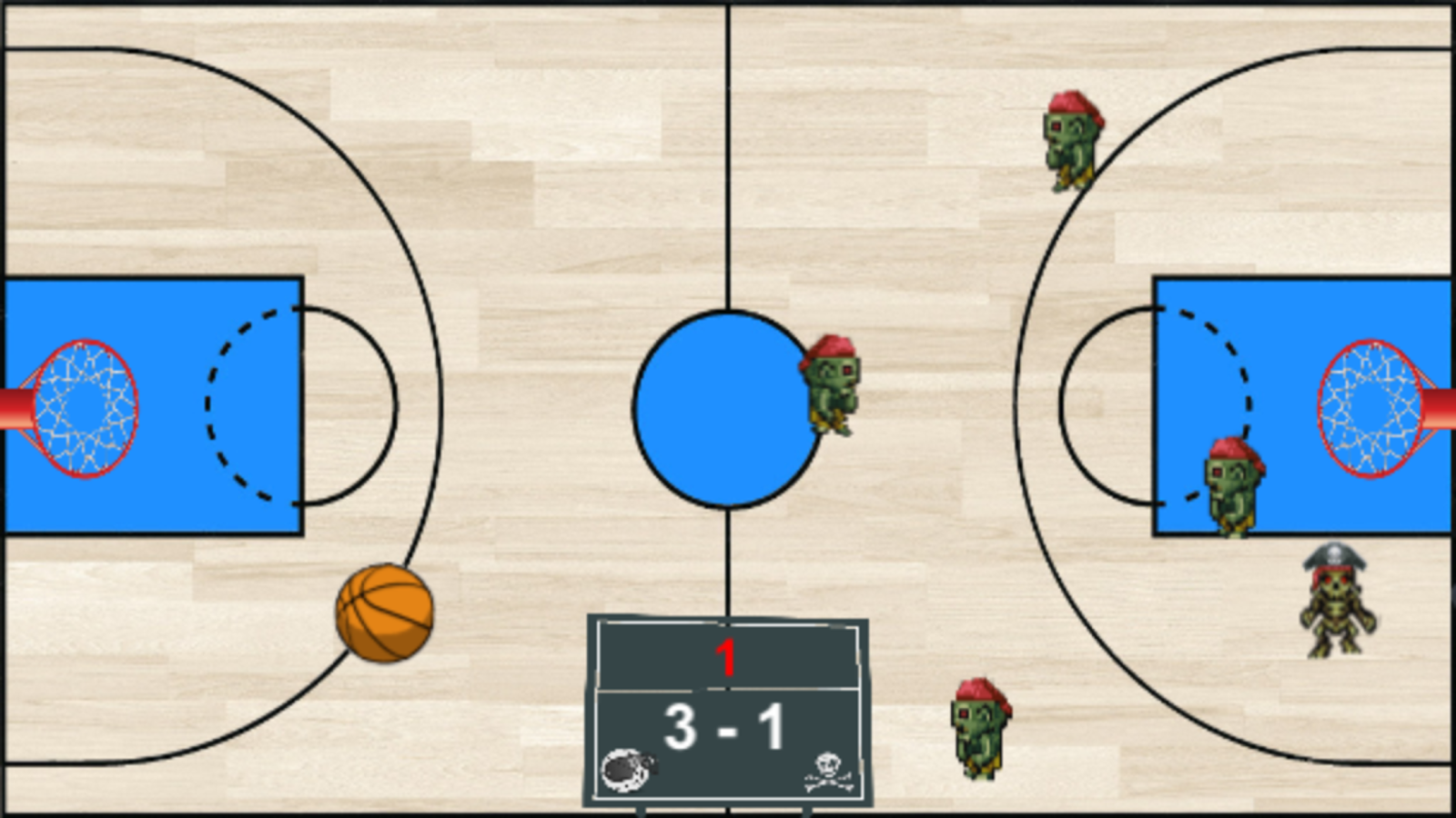 Basket Zombie- screenshot