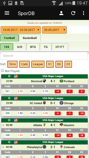 SporDb screenshot