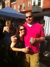 Photo: The future Mr. & Mrs. Casey Hughes at the outdoor block party at Varga Bar.