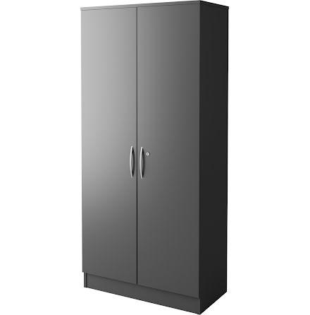 Skåp 401 med dörr mörk grå