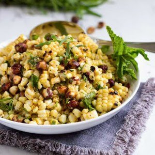 Grilled Corn Salad with Hazelnuts