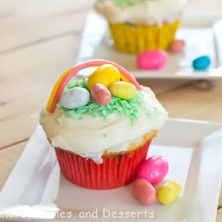 Easter Basket Cupcakes.