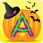 Halloween Kids Letters Tracing