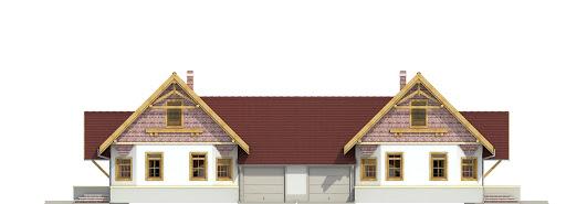 Lolek z garażem 1-st. bliźniak A-BL1 - Elewacja przednia