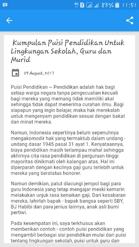 Download Kumpulan Puisi Pendidikan Pilihan Apk 2 4 0 By Leboy