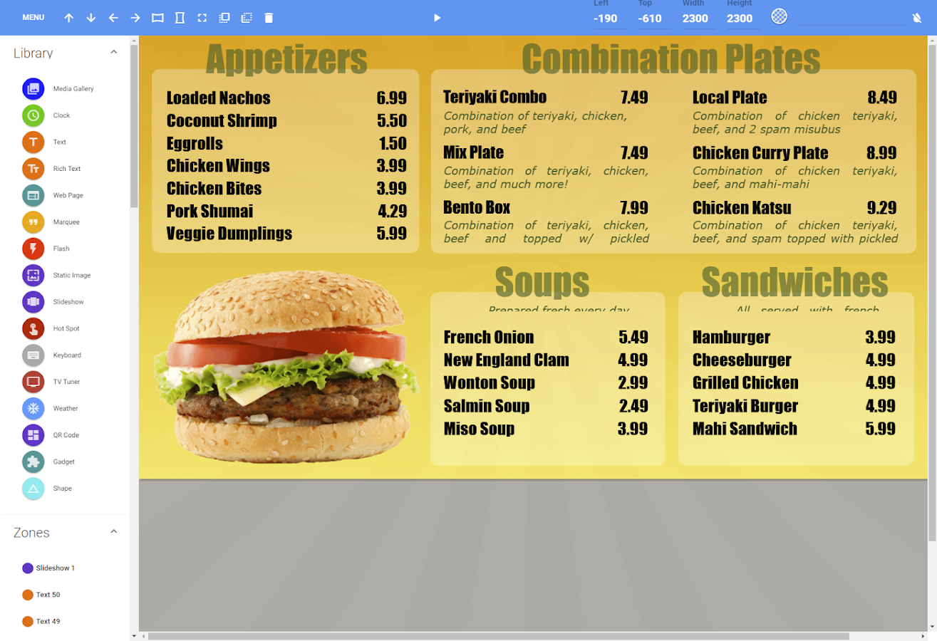 RevelDigital - Digital Signage- screenshot