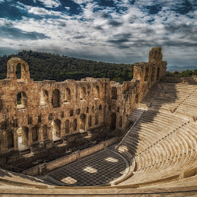 Greek Amphitheatre, Athens by Angela Higgins - Buildings & Architecture Public & Historical