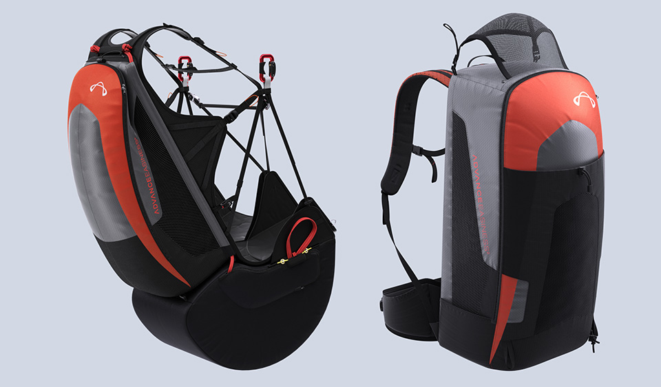 Removable reserve and seat protection  to reduce further weight