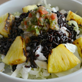 Pineapple Fish Taco Bowl with Black Rice