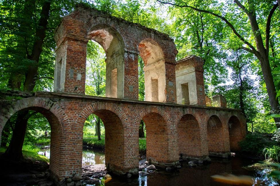 Arkadia, Romantyczny park w Arkadii, Polska, Akwedukt