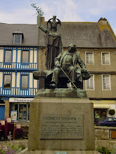 Photo: Renan (1823-1892) remembered in the town square. He was a philosopher and writer - mostly religion and politics.