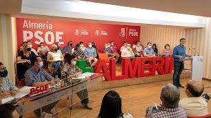 Sánchez Teruel, en el Comité Provincial del PSOE de esta tarde.