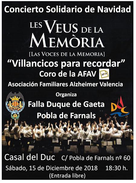 """""""Les Veus de la Memòria"""" en Duque de Gaeta - Puebla de Farnals"""