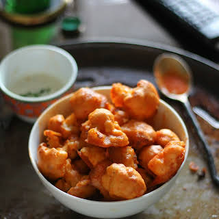 Vegan Buffalo Cauliflower Bites.