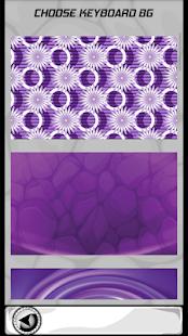 Úžasné fialové klávesnice - náhled