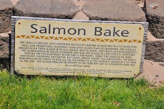 Photo: Salmon Bake sign