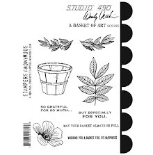 Wendy Vecchi Cling Stamps - A Basket Of Art