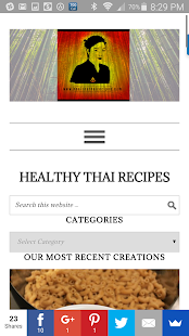 Healthy Thai Recipes App- screenshot thumbnail