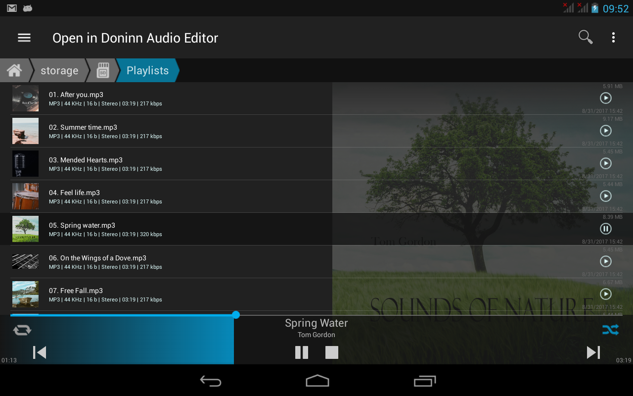 Doninn Audio Editor- screenshot