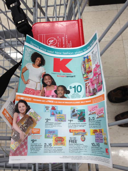 Photo: I went over and picked up a KMart Circular to see what I could find on sale.  There were lots of Easter goodies on sale!