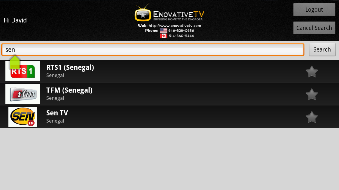 EnovativeTV for GoogleTV- screenshot