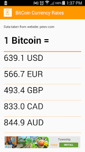 BitCoin Rates Free- screenshot thumbnail