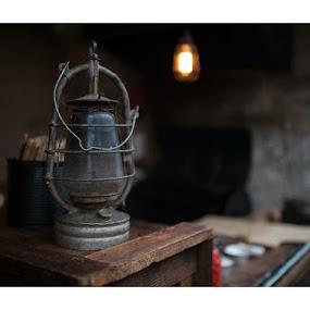 Lamp by Szymon Stasiak - Artistic Objects Antiques ( lamp oil lamp still life natural light )