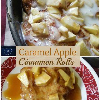 Caramel Apple Cinnamon Rolls (3-ingredients!)