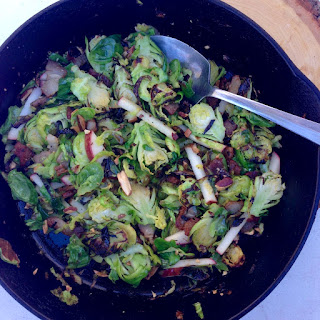 Brussels Sprouts with Almonds, Apples & Bacon