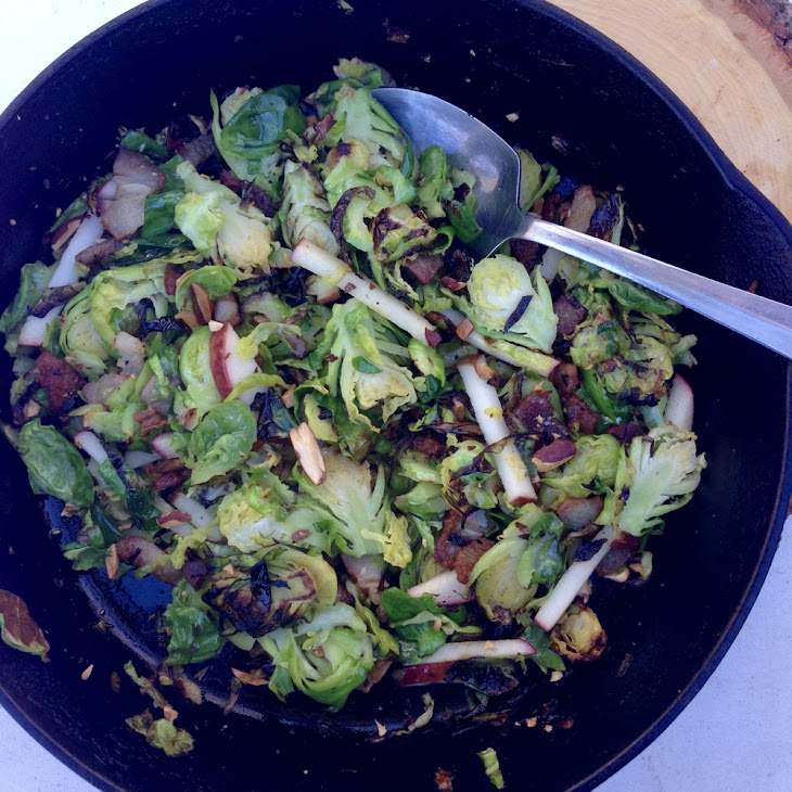 Brussels Sprouts with Almonds, Apples & Bacon Recipe