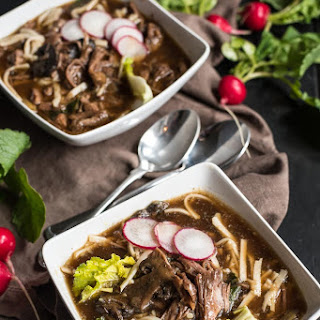 Slow Cooker Asian Beef and Udon Noodle Soup.