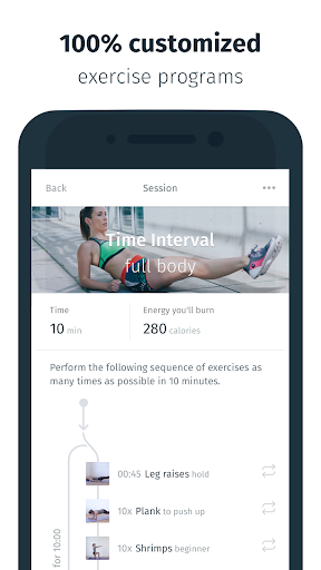 8fit - Workouts, Meal Planner & Personal Trainer Screenshot