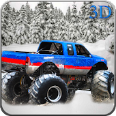 Snow 4x4 Monster Truck Stunt