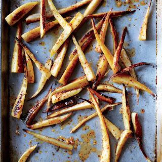Spicy Honey-Glazed Parsnips