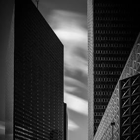 Dallas Long Ex by Tim Nichols - Buildings & Architecture Office Buildings & Hotels ( sky, black and white, dallas, long exposure, architecture )