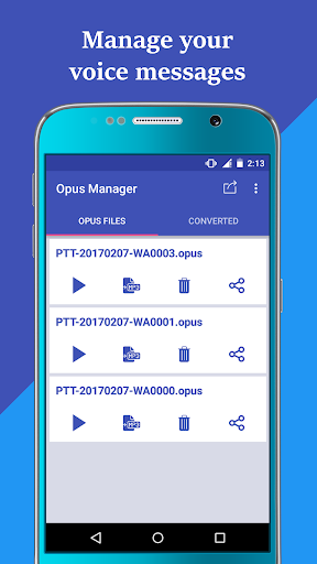 Voice & Audio Manager for WhatsApp , OPUS to MP3 4.1.4 screenshots 3