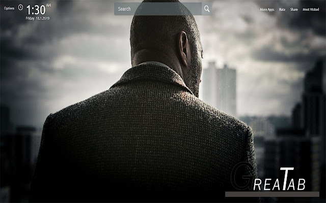 Idris Elba Wallpapers Theme |GreaTab