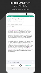Temp Mail - Free Instant Temporary Email Address Screenshot