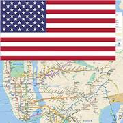 New York Subway/Metro/Train/Bus/Tour Map Offline