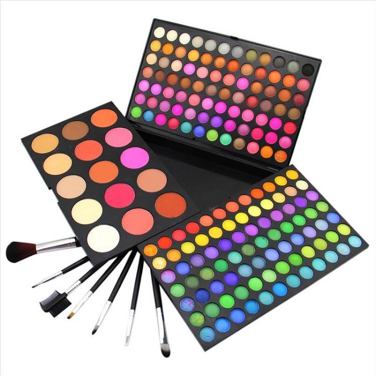 183 Color Makeup Palette Set 168 Eyeshadow 9 Blush & 6 Contour Powder by Supermodels Secrets