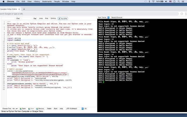 Python Compiler Editor