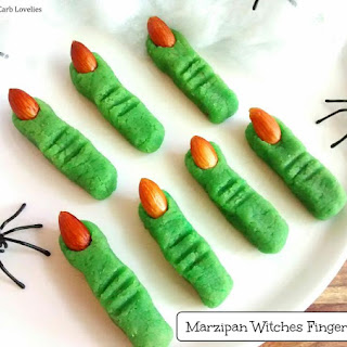 Low Carb Marzipan Witches Fingers