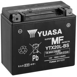 YUASA MC batteri YTX20L-BS lxbxh=175x87x155mm