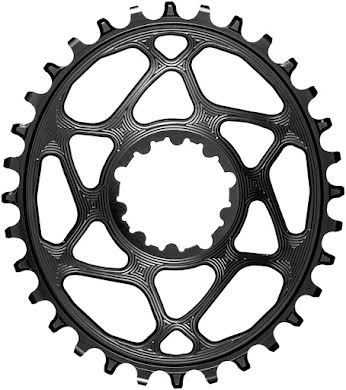 Absolute Black Oval Direct Mount Chainring - SRAM 3-Bolt DM, 3mm Offset, Requires Hyperglide+ Chain alternate image 1