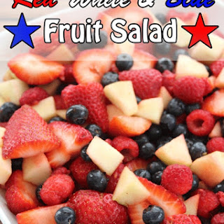 Red White and Blue Fruit Salad Recipe