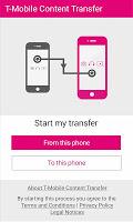 screenshot of T-Mobile Content Transfer