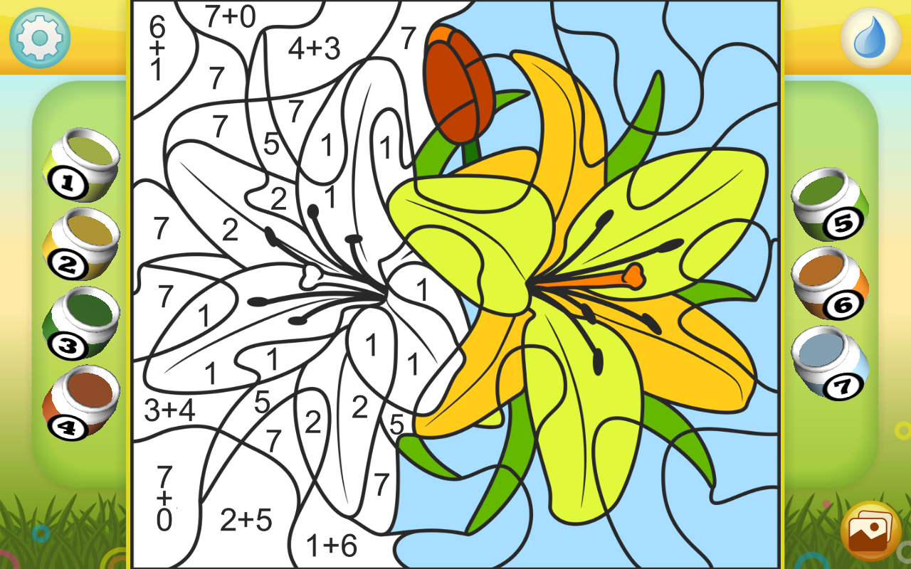 color by numbers flowers android apps on google play