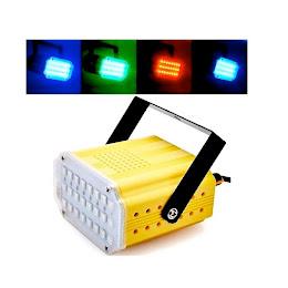 Mini proiector 24 LED RGB cu jocuri de lumina si senzor de muzica